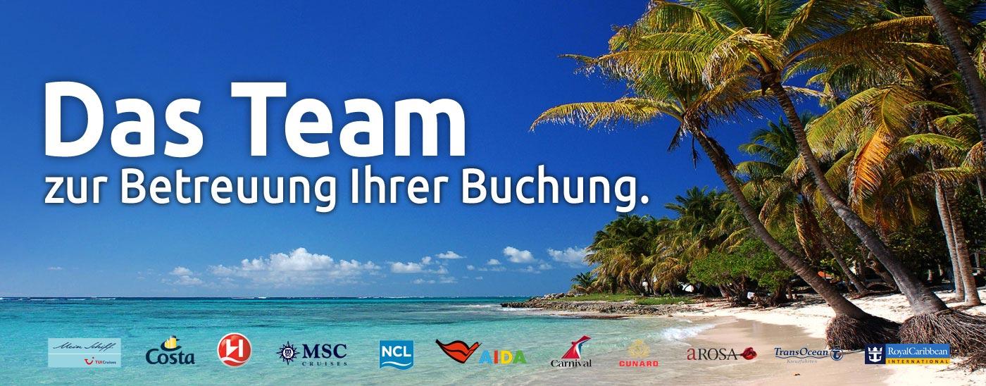 Das Team von Kreuzfahrten-Reisebuero.de